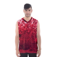 Red Tinted Roses Collage 2 Men s Basketball Tank Top