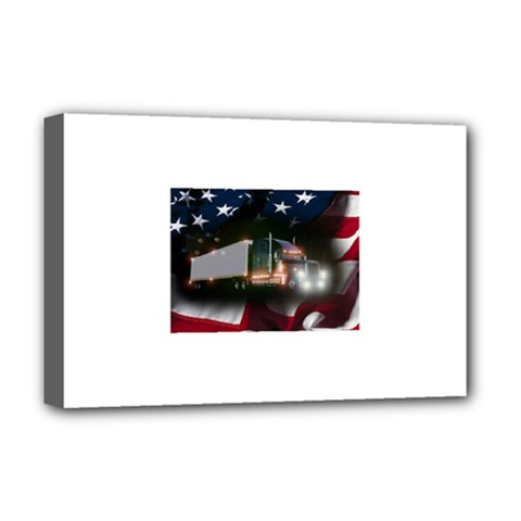 Trucking Freedom Deluxe Canvas 18  x 12