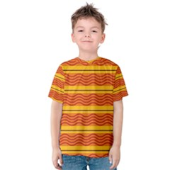 Red Waves Kid s Cotton Tee