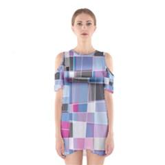 Patches Women s Cutout Shoulder Dress