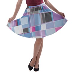 Patches A Line Skater Skirt