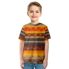 Fading shapes texture Kid s Sport Mesh Tee