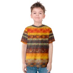 Fading Shapes Texture Kid s Cotton Tee