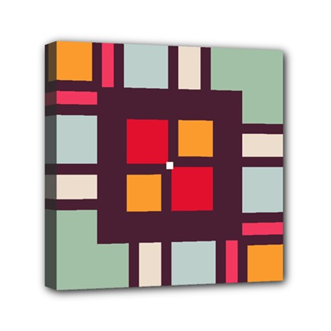 Squares and stripes  Mini Canvas 6  x 6  (Stretched)