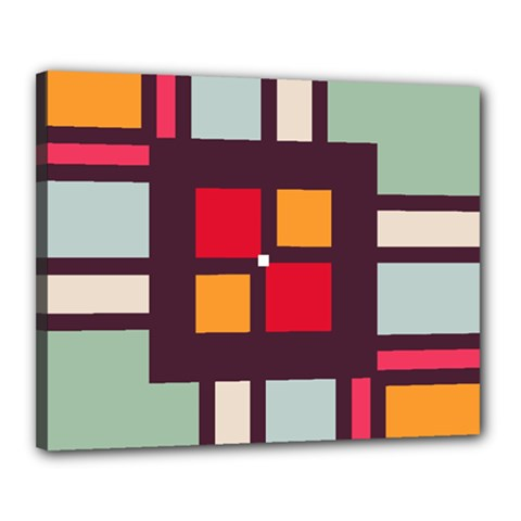 Squares and stripes  Canvas 20  x 16  (Stretched)