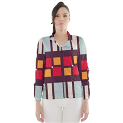 Squares and stripes  Wind Breaker (Women)