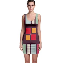 Squares and stripes  Bodycon Dress
