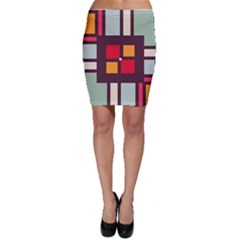 Squares and stripes  Bodycon Skirt
