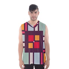 Squares and stripes  Men s Basketball Tank Top