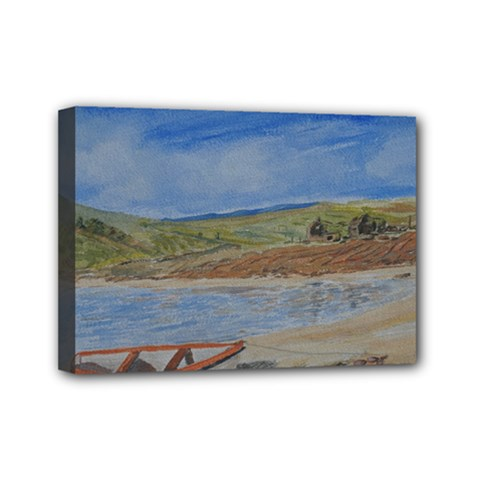 Boatonthebeach 15x10 Mini Canvas 7  X 5