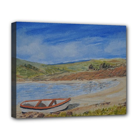 Boatonthebeach 15x10 Deluxe Canvas 20  x 16