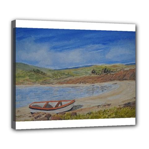 Boatonthebeach 15x10 Deluxe Canvas 24  x 20