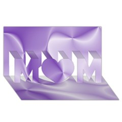 Colors In Motion, Lilac Mom 3d Greeting Card (8x4)