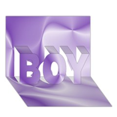 Colors In Motion, Lilac Boy 3d Greeting Card (7x5)