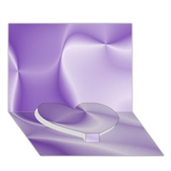 Colors In Motion, Lilac Heart Bottom 3D Greeting Card (7x5)