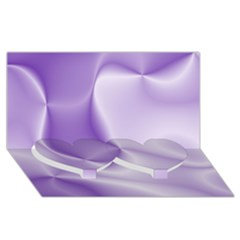 Colors In Motion, Lilac Twin Heart Bottom 3d Greeting Card (8x4)