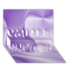 Colors In Motion, Lilac YOU ARE INVITED 3D Greeting Card (7x5)