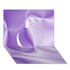 Colors In Motion, Lilac Apple 3D Greeting Card (7x5)