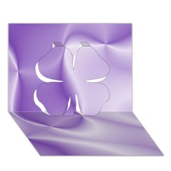 Colors In Motion, Lilac Clover 3D Greeting Card (7x5)