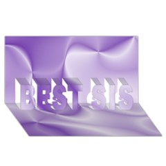 Colors In Motion, Lilac Best Sis 3d Greeting Card (8x4)