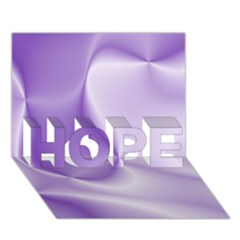 Colors In Motion, Lilac HOPE 3D Greeting Card (7x5)