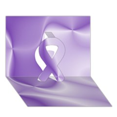 Colors In Motion, Lilac Ribbon 3D Greeting Card (7x5)