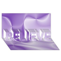 Colors In Motion, Lilac Believe 3d Greeting Card (8x4)