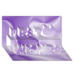 Colors In Motion, Lilac Best Wish 3D Greeting Card (8x4)