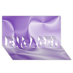 Colors In Motion, Lilac ENGAGED 3D Greeting Card (8x4)