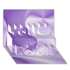 Colors In Motion, Lilac You Rock 3d Greeting Card (7x5)