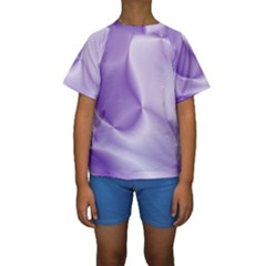Colors In Motion, Lilac Kid s Short Sleeve Swimwear