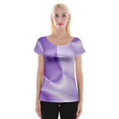 Colors In Motion, Lilac Women s Cap Sleeve Top