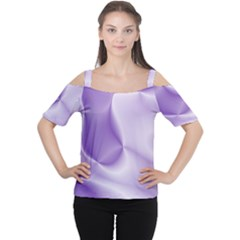 Colors In Motion, Lilac Women s Cutout Shoulder Tee