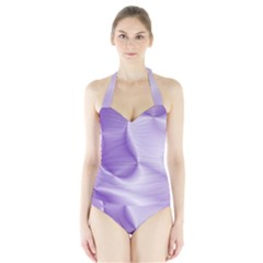 Colors In Motion, Lilac Women s Halter One Piece Swimsuit