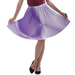 Colors In Motion, Lilac A Line Skater Skirt