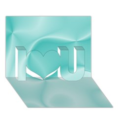 Colors In Motion,teal I Love You 3D Greeting Card (7x5)