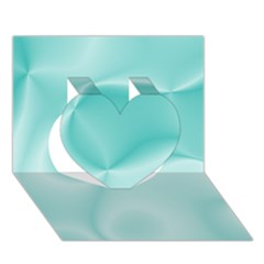 Colors In Motion,teal Heart 3d Greeting Card (7x5)