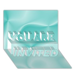 Colors In Motion,teal YOU ARE INVITED 3D Greeting Card (7x5)