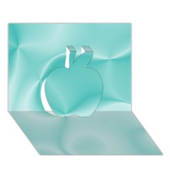 Colors In Motion,teal Apple 3d Greeting Card (7x5)