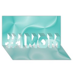 Colors In Motion,teal #1 Mom 3d Greeting Cards (8x4)