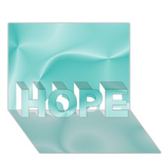 Colors In Motion,teal HOPE 3D Greeting Card (7x5)