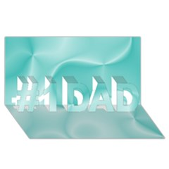 Colors In Motion,teal #1 Dad 3d Greeting Card (8x4)