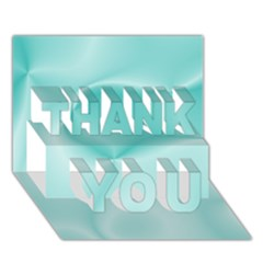 Colors In Motion,teal THANK YOU 3D Greeting Card (7x5)