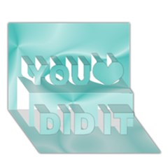 Colors In Motion,teal You Did It 3d Greeting Card (7x5)