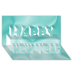 Colors In Motion,teal Happy New Year 3d Greeting Card (8x4)