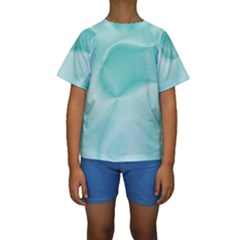 Colors In Motion,teal Kid s Short Sleeve Swimwear