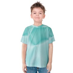 Colors In Motion,teal Kid s Cotton Tee