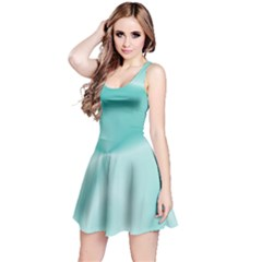 Colors In Motion,teal Reversible Sleeveless Dresses