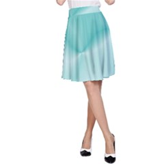 Colors In Motion,teal A-Line Skirt
