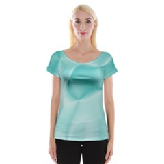 Colors In Motion,teal Women s Cap Sleeve Top